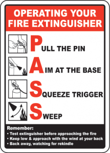 A fire extinguisher can stop fires from causing extensive damage to your home.