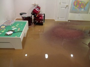 What to do when you have a flooded basement.