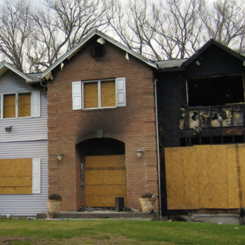 securing a home after a fire