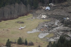 Damage from the Oso, Washington mudslide.