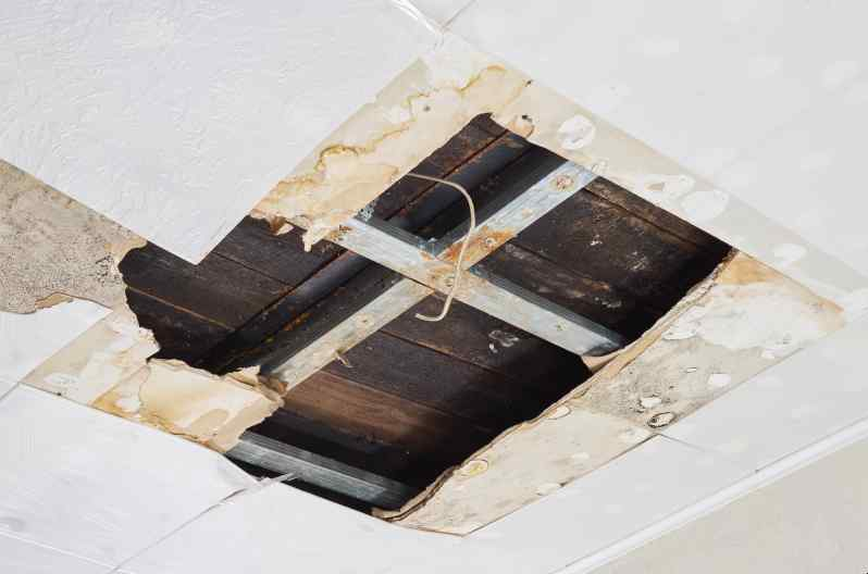 Ceiling Water Damage How To Repair