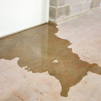 basement water damage - basement flood