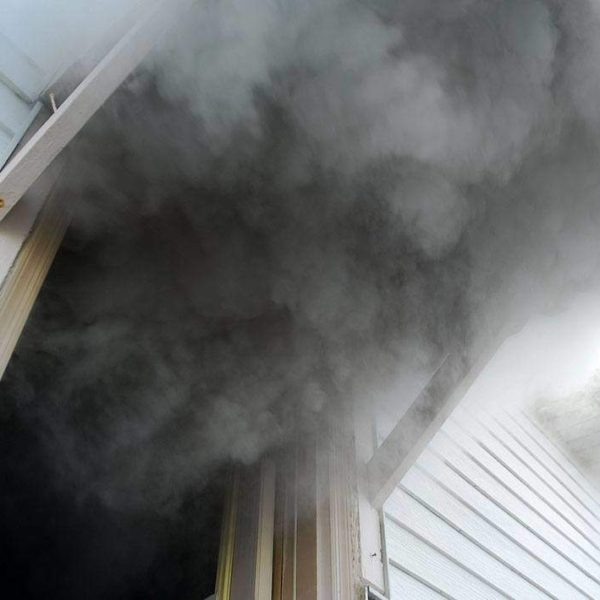 smoke from home fire damage