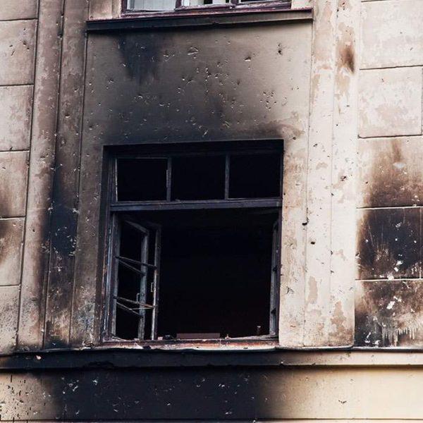 fire damage to window