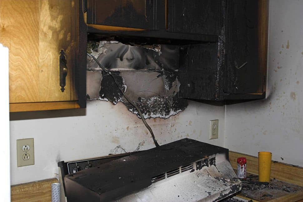 Kitchen fire damage in Fort Covington, NY