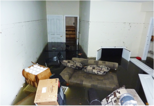 basement contents after basement water damage