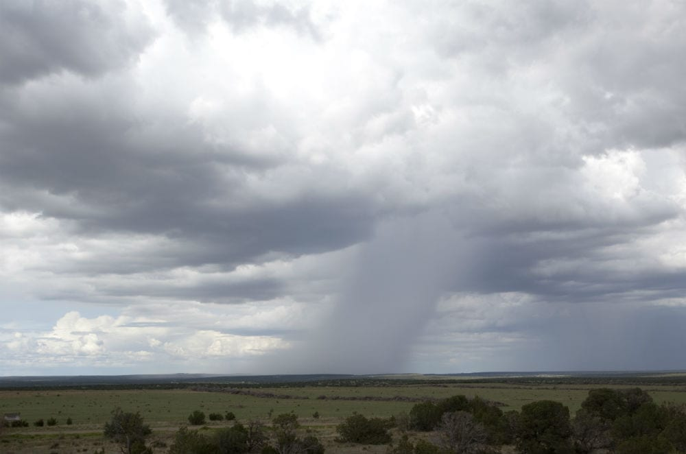 Microburst rainstorm in New Mexico