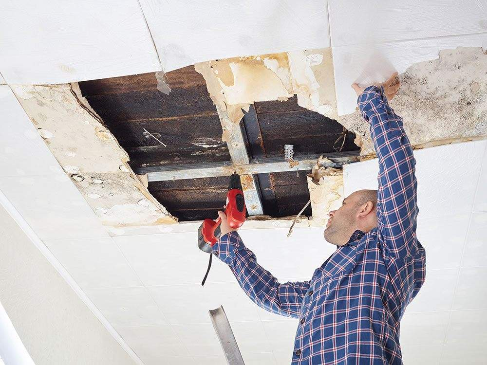 contractor fixes water damage in Ollie, IA
