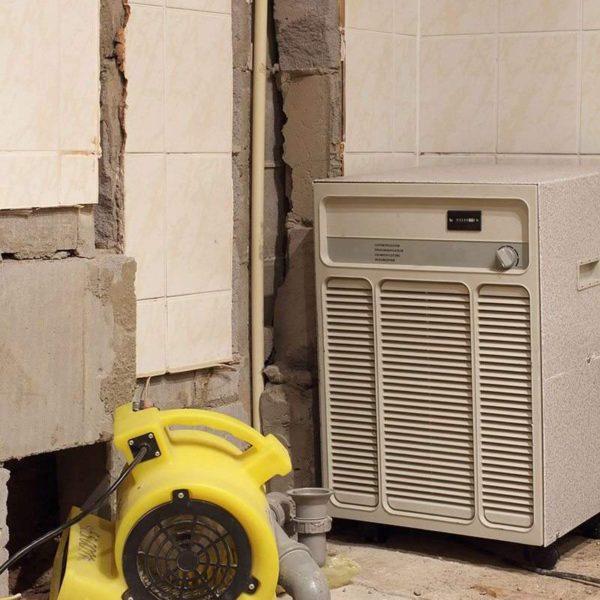 fan repairing water damage