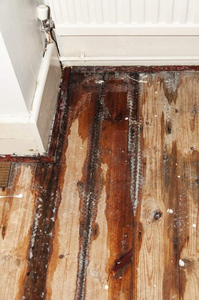 wood floor water damage in Fort Covington, NY