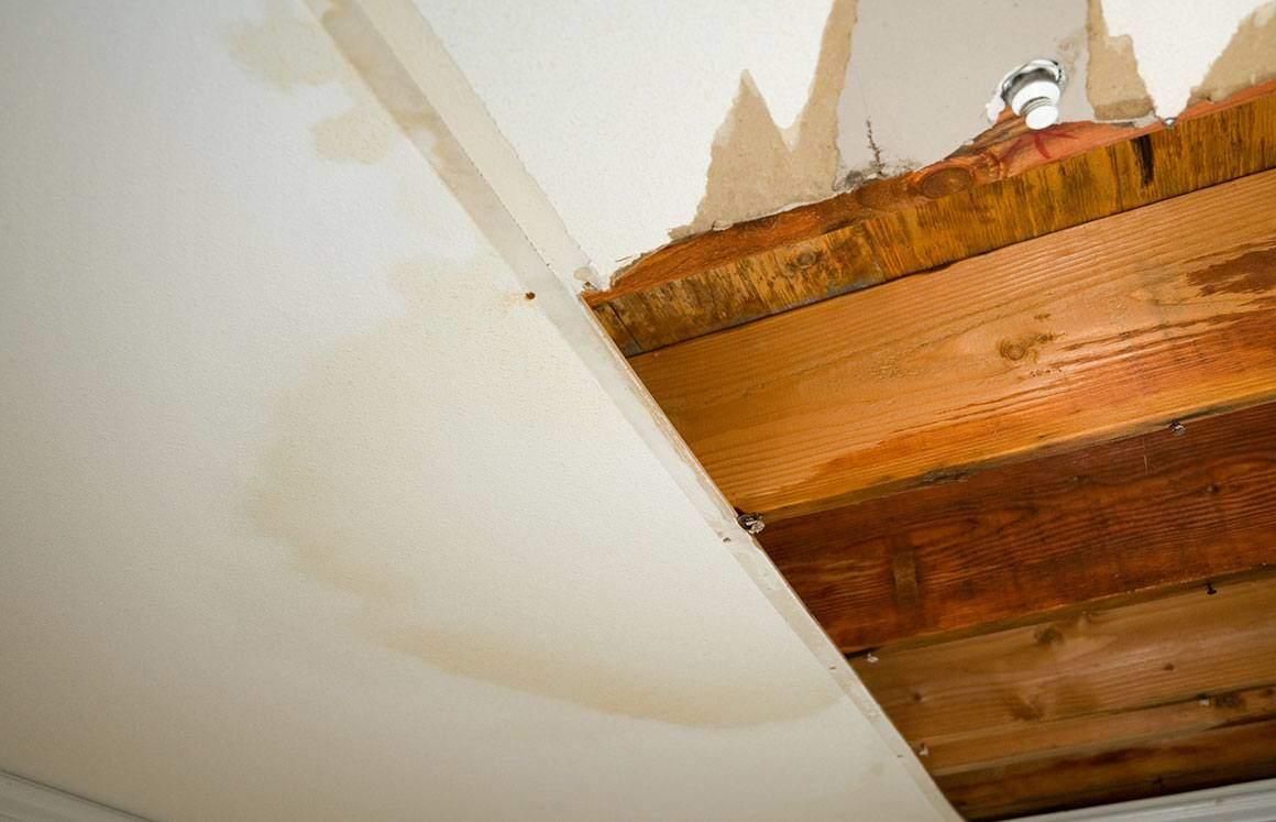 water damage of ceiling